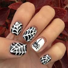 polish pals spiderweb nail art tutorial