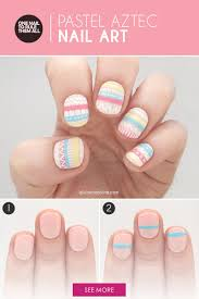 perfectly pastel aztec nail art to try more com