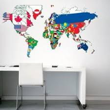 world map with country names contemporary wall decal sticker world map with country names modern and contemporary