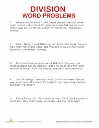 ideas of multiplication and division word problems worksheets 6th