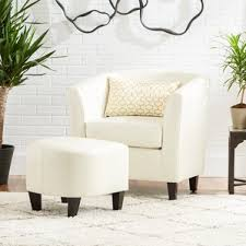 White Armchair With Ottoman Chair U0026 Ottoman Sets You U0027ll Love Wayfair