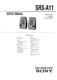 sony srs a11 service manual immediate download