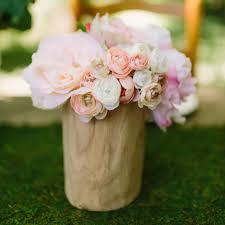Ranunculus Flower Pink U0026 Ivory Ranunculus Bush Silk Flowers For Diy Brides