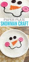 paper plate snowman craft winter crafts for kids paper plates