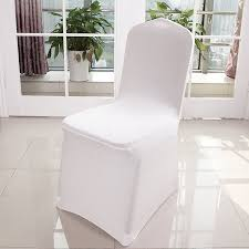 white banquet chair covers 100 pcs banquet chair covers white spandex chair covers for party