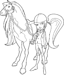 evil zoey horse chili horseland coloring pages