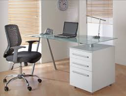 Home Office Glass Desks Pin By Emilie On Pc Corner Pinterest Office Furniture Desks