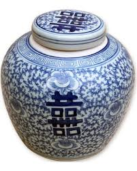 white ginger jar l deals on blue white double happiness ginger jar