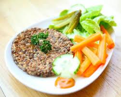 cuisiner les lentilles vertes steak végétarien de lentilles vertes burger recette de steak