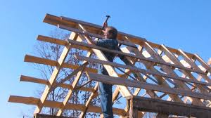 old fashioned pole barn pt 4 framing the roof the farm hand u0027s