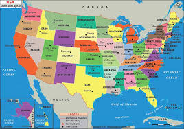 map us us states and capitals map list of us states and capitals
