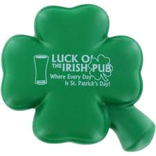 promotional 4 leaf clover stress balls with custom logo for 1 39 ea