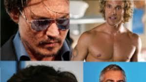 Stringers      clockwise  Johnny Depp  Matthew McConaughey  George Clooney and