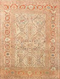 antique ivory background persian sultanabad rug 50576 antique