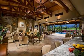 A Tuscan Farmhouse  Mediterranean Family Room Orange County - Tuscan style family room