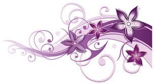 pruple floral ornaments vectors 01 vector floral vector