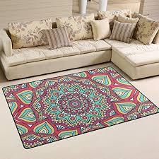 tappeto etnico coosun etnico floreale mandala modello tappeto tappeto antiscivolo