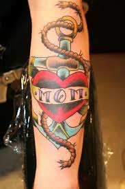 heart mom anchor tattoo design tatts and embellishments