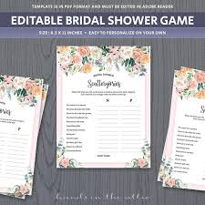 bridal shower for large groups scattergories template unique bridal shower for