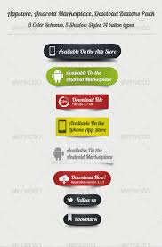 android button style appstore android dowload buttons pack web project progress
