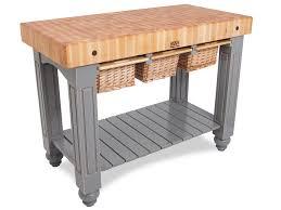 Boos Gathering Block III X Butcher Block Table  Wicker - Kitchen butcher block tables