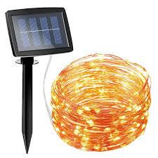 Solar Power Led Christmas Lights Amazon Com Amir Solar Powered String Lights 150 Led 2 Modes