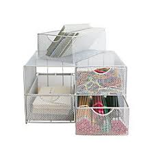 neat life mesh desktop storage unit with drawers silver by office
