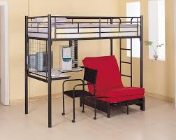 Pictures Of Bunk Beds With Desk Underneath Amazon Com Coaster Fine Furniture 2209 Metal Bunk Bed With Futon