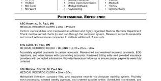Resume For Medical Records Professional Medical Billing And Coding Specialist Resume