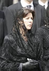 funeral veil princess caroline photos photos funeral prince rainier zimbio