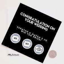 Congratulations Wedding Card Wedding Card Rude Cards Funny Cards Greeting Card Funny