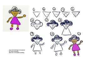 how to draw a cartoon character day 19 of 100 days envizua flickr