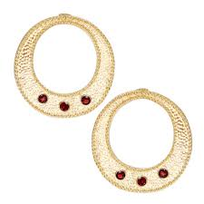 disco earrings gold wildfire hoops disco earrings garnet gemstones mountain