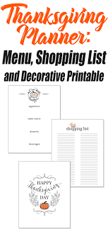 100 thanksgiving checklist printables 2016 guide