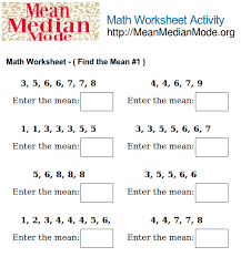 finding mean worksheets free worksheets library download and