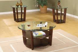 Dark Wood Coffee Table Set 2017 Popular Dark Wood Round Coffee And End Table Sets
