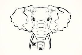 43 cute outline elephant tattoos