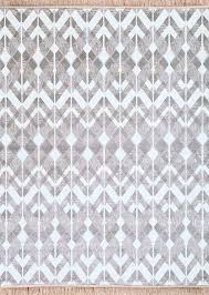 White And Gray Rugs Modern Trendy Gray U0026 White Wavy Zig Zag Pattern Fringe Area Rug