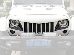 jeep eagle 2016 save 32 opar front matte black eagle eye grille w mesh insert