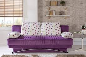 bedroom ideas amazing fashionable purple fabric sofa black metal
