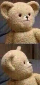 Teddy Bear Meme - mfw someone tries to commit suicide by drinking snuggle reaction