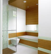 london brick pattern tile bathroom transitional with bathrooms