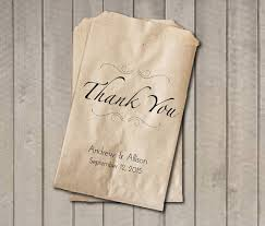 thank you wedding favor bags thank you favor bags personalized