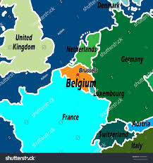 Map Of Belgium In Europe by Map Northern Europe Belgium Highlighted Light Stock Illustration