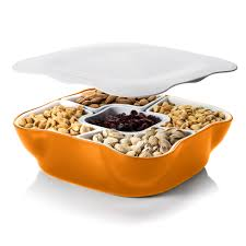 unique serving platters snack serving tray with lid and removable compartments home and