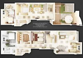 duplex 3d plan 02 by m fawzi on deviantart