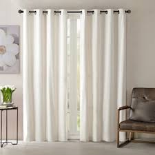 Single Blackout Curtain Ivory And Cream Velvet Curtains U0026 Drapes You U0027ll Love Wayfair
