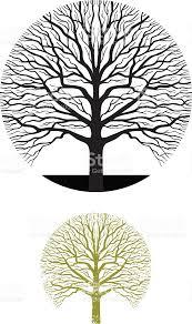 tree symbol oak tree symbol illustration stock vector art more images of