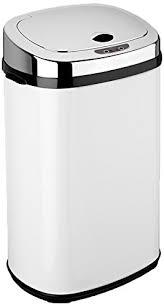 poubelle de cuisine blanche dihl poubelle automatique rectangulaire blanc 30 l amazon fr