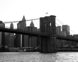 Brooklyn Flag Bridges Brooklyn Bridge Flags New York City Manhattan Grayscale